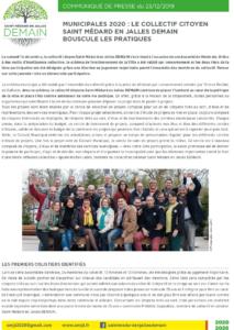 Saint Médard en Jalles - Communiqué de presse